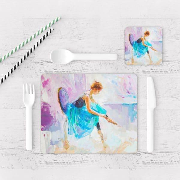 Individuales De Mesa Modernos para Comedor Pintura Bailarina