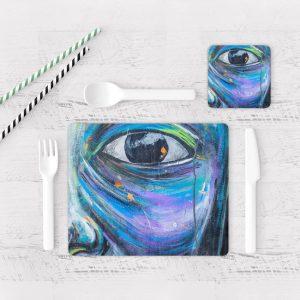 Individuales De Mesa Modernos para Comedor Ojos Colores 02