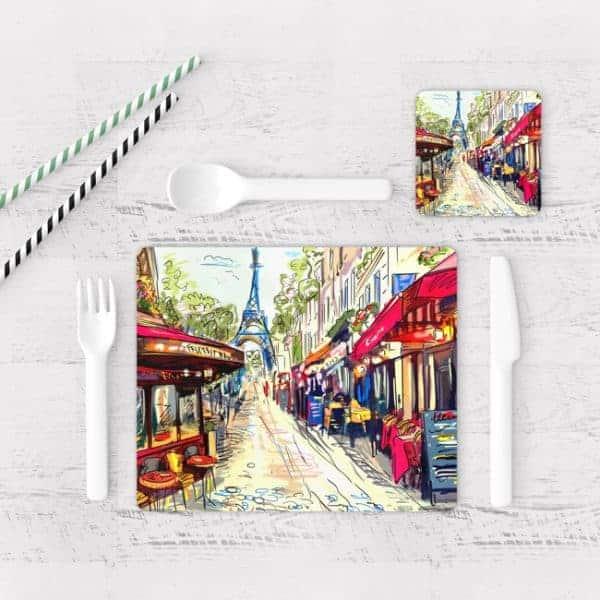 Individuales De Mesa Modernos para Comedor Pintura Paris 04