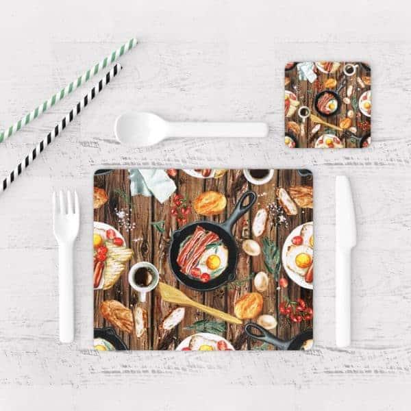 Individuales De Mesa Modernos para Comedor Pintura Desayuno 01