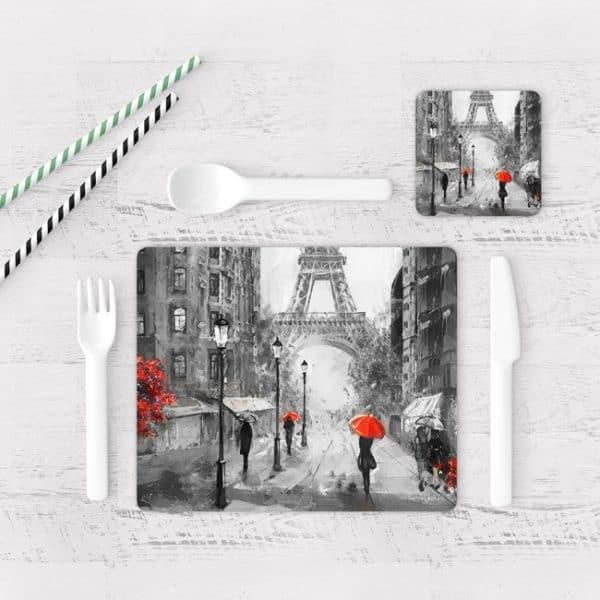 Individuales De Mesa Modernos para Comedor Pintura Paris 09
