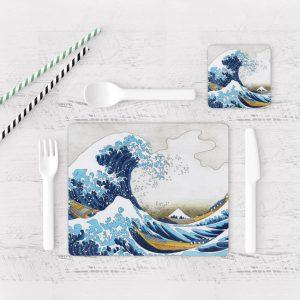 Individuales De Mesa Modernos para Comedor Pintura Mar Y Olas 08