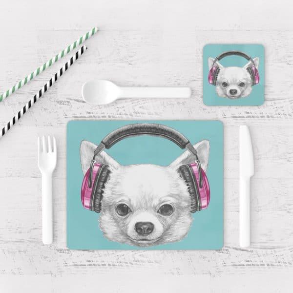 Individuales De Mesa Modernos para Comedor Perro 37