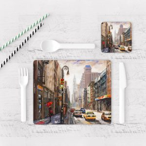 Individuales De Mesa Modernos para Comedor Pintura New York 02