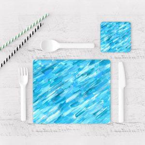 Individuales De Mesa Modernos para Comedor Pintura Abstracta 24