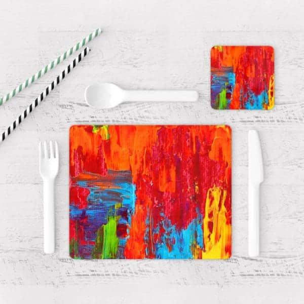 Individuales De Mesa Modernos para Comedor Pintura Pincel 11