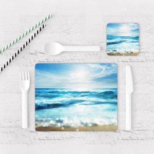 Individuales De Mesa Modernos para Comedor Playa 80