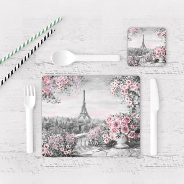 Individuales De Mesa Modernos para Comedor Pintura Paris 19