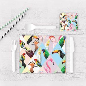 Individuales De Mesa Modernos para Comedor Pájaro 55