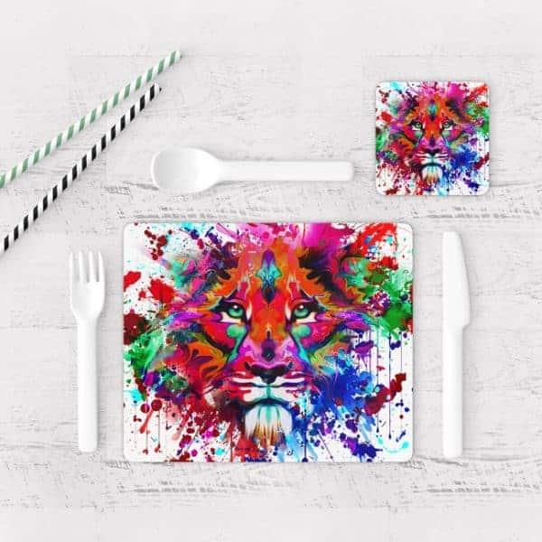 Individuales De Mesa Modernos para Comedor Tigre Colores 16