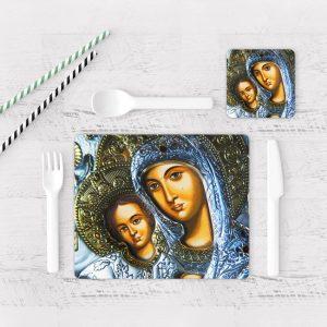 Individuales De Mesa Modernos para Comedor Virgen Maria 08