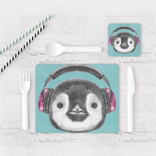 Individuales De Mesa Modernos para Comedor Pingüinos 02