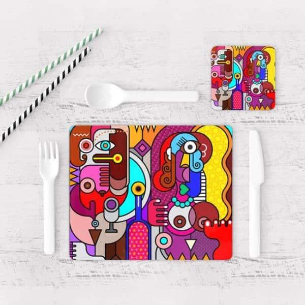 Individuales De Mesa Modernos para Comedor Picasso 14