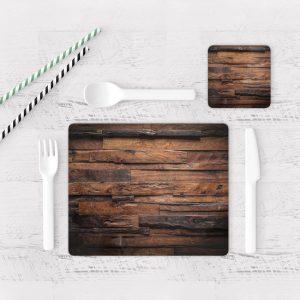 Individuales De Mesa Modernos para Comedor Textura Madera 09