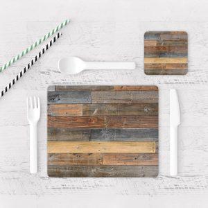 Individuales De Mesa Modernos para Comedor Textura Madera 16