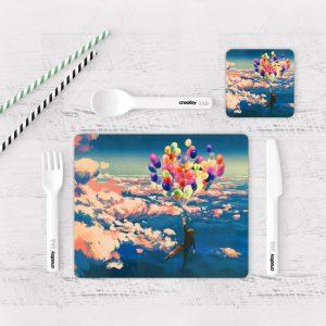 Individuales De Mesa Modernos para Comedor Paseo Por Las Nubes
