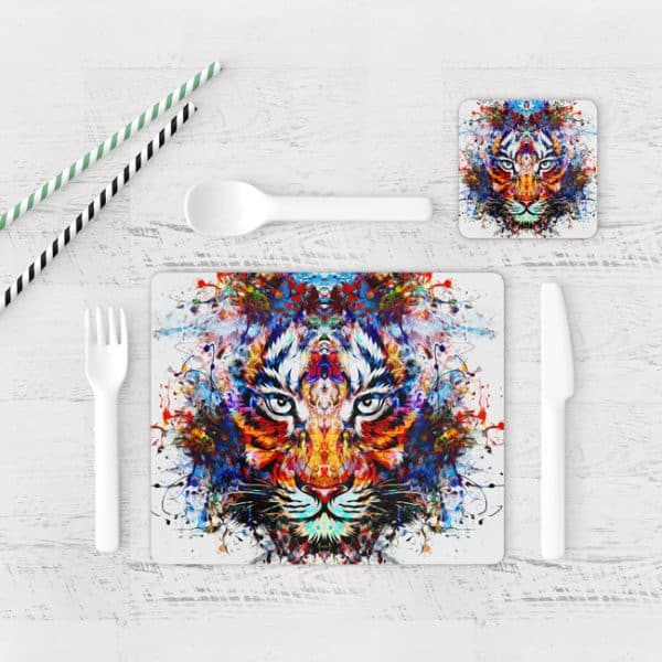 Individuales De Mesa Modernos para Comedor Tigre Colores 14