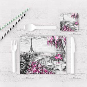 Individuales De Mesa Modernos para Comedor Pintura Paris 17