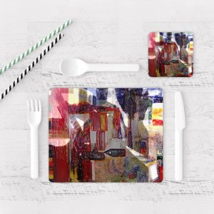 Individuales De Mesa Modernos para Comedor Pintura Abstracta 10