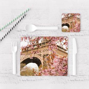 Individuales De Mesa Modernos para Comedor Paris Torre Eiffel 28