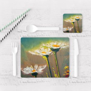 Individuales De Mesa Modernos para Comedor Pintura Flores 115