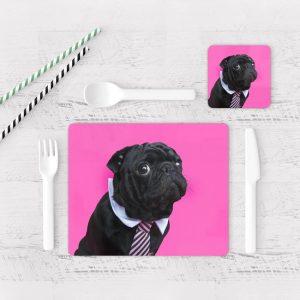 Individuales De Mesa Modernos para Comedor Perro Pug 76