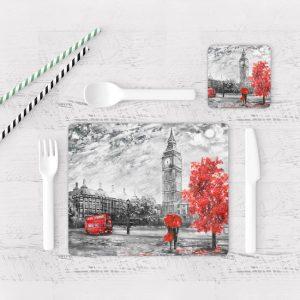 Individuales De Mesa Modernos para Comedor Pintura London 02