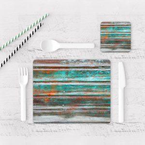 Individuales De Mesa Modernos para Comedor Textura Madera 12