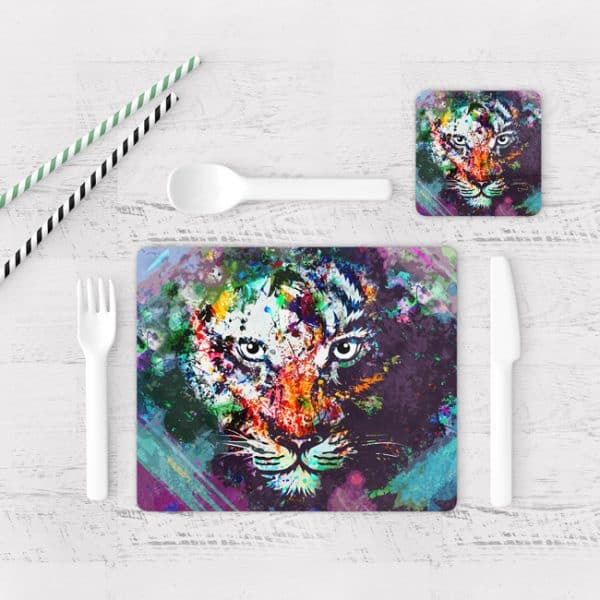 Individuales De Mesa Modernos para Comedor Tigre Colores 02