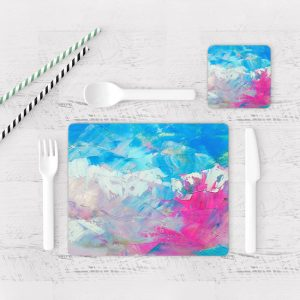 Individuales De Mesa Modernos para Comedor Pintura Pincel 15