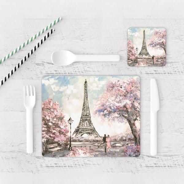 Individuales De Mesa Modernos para Comedor Pintura Paris 11