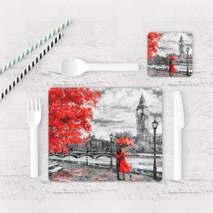 Individuales De Mesa Modernos para Comedor Pintura London 03