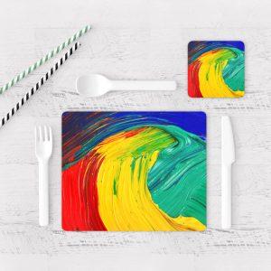 Individuales De Mesa Modernos para Comedor Pintura Pincel 02