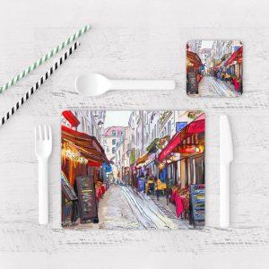 Individuales De Mesa Modernos para Comedor Pintura Paris 02