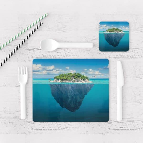 Individuales De Mesa Modernos para Comedor Playa Isla 79
