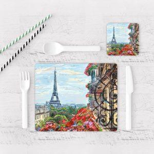 Individuales De Mesa Modernos para Comedor Pintura Paris 01