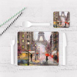 Individuales De Mesa Modernos para Comedor Pintura Paris 07