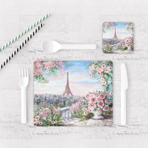 Individuales De Mesa Modernos para Comedor Pintura Paris 18