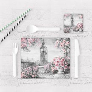 Individuales De Mesa Modernos para Comedor Pintura London 07