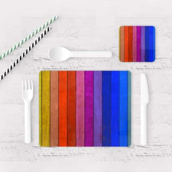 Individuales De Mesa Modernos para Comedor Textura Madera 18