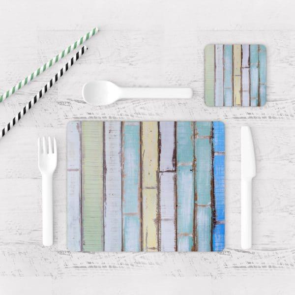 Individuales De Mesa Modernos para Comedor Textura Madera 17
