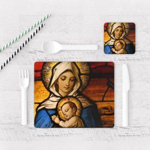 Individuales De Mesa Modernos para Comedor Virgen Maria 01