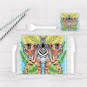 Individuales De Mesa Modernos para Comedor Tigre Colores 46