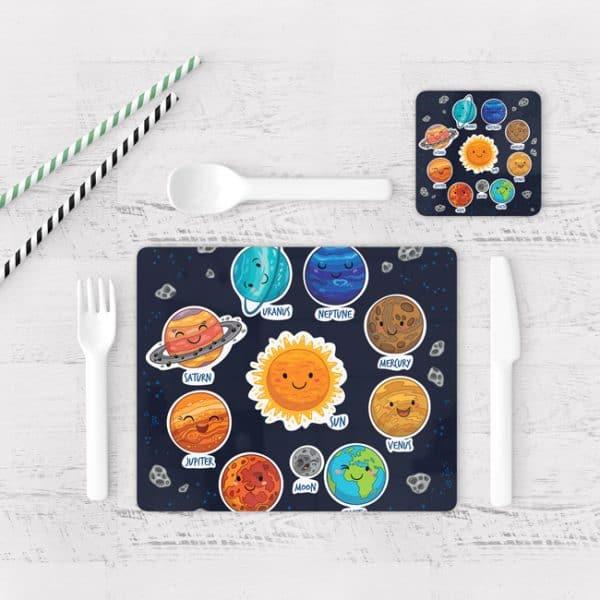 Individuales De Mesa Modernos para Comedor Sistema Solar 02