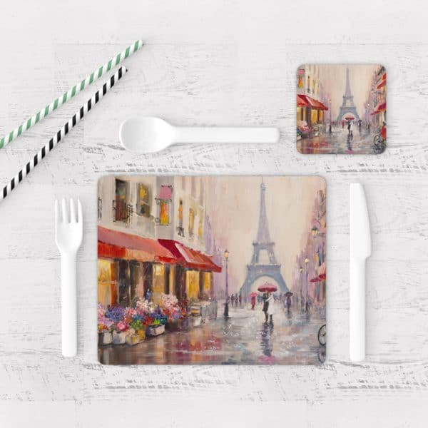 Individuales De Mesa Modernos para Comedor Pintura Paris 15