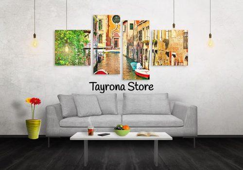 Cuadros Decorativos Tayrona Store 4 Partes Venecia 31