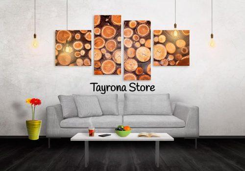 Cuadros Decorativos Tayrona Store 4 Partes Troncos De Madera Copia