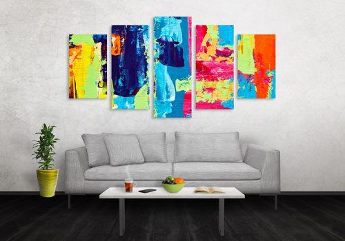 Cuadros Decorativos Tayrona Store 5 Partes Pintura Pincel 16