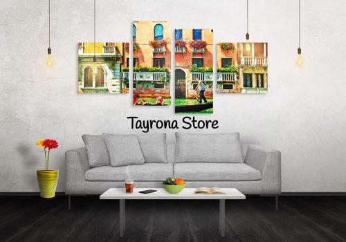 Cuadros Decorativos Tayrona Store 4 Partes Venecia 29