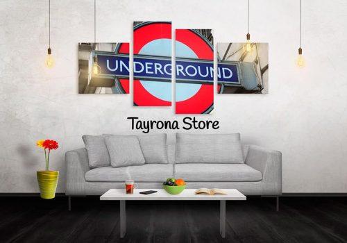 Cuadros Decorativos Tayrona Store 4 Partes Underground